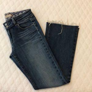 PAIGE Hidden Hills Bootcut Jeans w/ Frayed Hem- 30